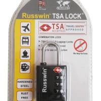 Gembok Koper Russwin TSA Lock 105 - Black