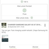 Harga charger samsung galaxy a5 a7 2016 fast charging original 100 | antitipu.com
