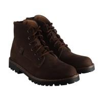 ZPTFTW001 - Sepatu Boots Kulit Casual Pria Coklat - Zapatos Icon Seri