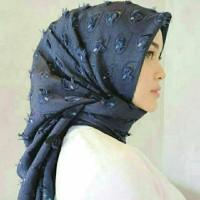 Hijab Bawal Segi Empat / Kerudung Bulu Merak ~ Promo Super Sale