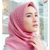Hijab segi empat rubi sifon / Jilbab Ruby sifon