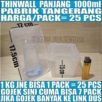 Kotak Makan 1000 ml Tempat Box Nasi Mangkok Plastik Thinwall/Thin Wall