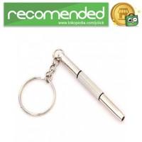Gantungan Kunci Obeng Plus Minus - Silver