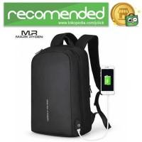 Mark Ryden Tas Ransel Laptop dengan USB Charger Port - MR-6971 - Hitam