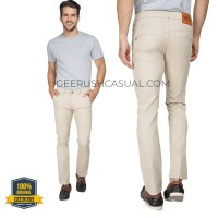 Celana Chino Panjang Slim Fit / Krem