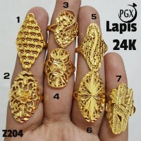 Z204 Cincin Lapis Emas 24 K Perhiasan Imitasi Xuping Lapis Emas Kuning