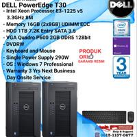 DELL Server T30 PowerEdge Intel Xeon E3-1225 v5/16GB/1TB/VGA/Win7Pro