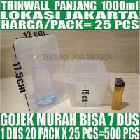 Kotak Makan 1000 ml Box Nasi Mangkok Plastik Thinwall /Thin Wall Murah