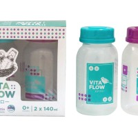VITAFLOW Botol ASI 3in1 PP 140ml 1 Paket 2 pcs