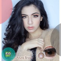 Softlens EOS Anuna Brown 3T / Softlense NORMAL HARGA 1 PASANG