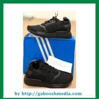 9b1610546 SEPATU SPORT SNEAKERS Adidas NMD R1 TRIPLE BLACK PRIMEKNIT JAPAN -
