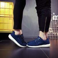 Sepatu Sneakers Pasangan Bahan Lace untuk Olahraga