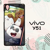 Casing Vivo Y51 Custom Hardcase HP We Bare Bears Taken Selfie L0467