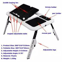E-Table Asli / Meja Laptop / Meja Portable / Meja Lipat / Meja Mini