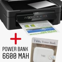 Printer EPSON L405 (printer- scan- copy-wifi ) + power bank 6600 MAH