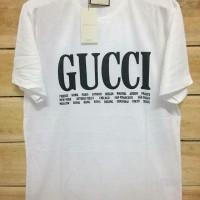 897cfbd6218 Baju Grosir Kaos Gucci Warna Putih Premium Terbaru
