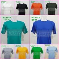 Terlaris Kaos Polos Anak Usia 7 - 10 Tahun 100% Katun Combed 30S Size