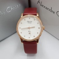 Jam Tangan Wanita Alexandre Christie AC 2743 Rosegold Red Original