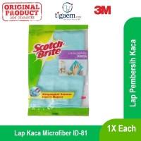 3M Lap Kaca Microfiber (ID-81)-Lap Tangan Merk Scotch Brite Bahan Kain