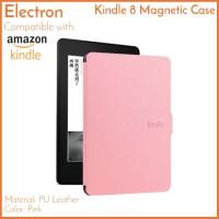 Kindle 8 Case Pink Merah Muda Basic PU Leather Magnetic Amazon 2016