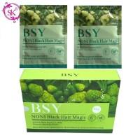 Sachet BSY Noni Black Hair Magic Shampoo menghitamkan,kualitas IMPORT