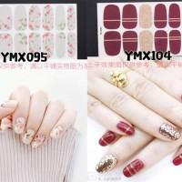 Nail sticker / sticker kuku / stiker kuku / flower glitter gel design