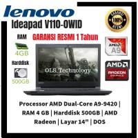 PRomo laptop Lenovo Ideapad V110-0WID with AMD A9 4GB 500GB DOS