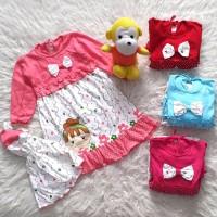 Pakaian Bayi Perempuan Baju Sepatu Muslim Gamis Anak Girl Face AJB0343