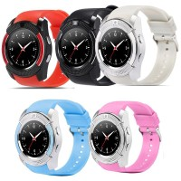 V8 Smartwatch Bluetooth Wireless Touch Screen untuk Android / iPhone