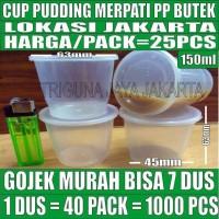Cup puding 150 ml 25pcs per dus tempat cake gelas sambal merpati murah
