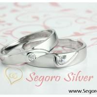 Cincin Tunangan Romantis Perak Kadar Murni
