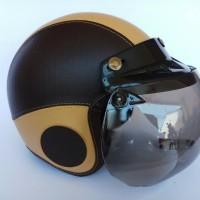 helm bogo anak hitam cream usia 3-7 tahun ( 1 kg isi 2 pcs