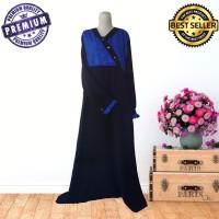 jubah syari jetblack black honey blue emboss sahabat hijrah