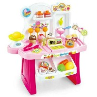 MAINAN ANAK SUPERMARKET KASIR PLAY SET / CAKE SHOP STAND CASH REGISTER