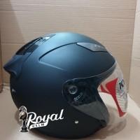 Helm kyt galaxy slide solid black matt / hitam doff size m dan l