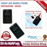Handphone Royalstar Credit Size Mobile Phone - HP Kecil / Mungil /