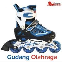 HARGA HEMAT Sepatu Roda Size L Inline Skate COUGAR Blue Berkualitas d325f7560b
