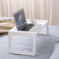 Meja Laptop Lipat - Meja Belajar Simple - Meja Belajar Lesehan - Abu-