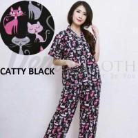 baju tidur Piyama Pajamas CP tsum tsum Mickey Catty Elmo/piyama murah