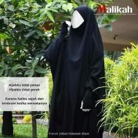Jetblack French Jilbab - Khimar Cadar Niqab Bandana - Abaya Malikah