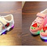 Sepatu Lampu LED Anak Perempuan (21-30) / Sepatu Lampu Rose - 21