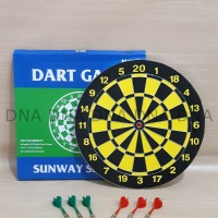 "Dart Board Game SUNWAY 38cm / Papan Dart Board SUNWAY 15"" - ORIGINAL"