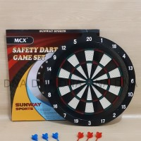 "Safety Dart Board Game SUNWAY 46cm / Papan Dart Board 18"" - ORIGINAL"