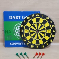 "Dart Board Game SUNWAY 43cm / Papan Dart Board SUNWAY 17"" - ORIGINAL"