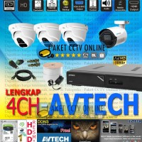 Jual Paket CCTV FULL HD Avtech 1080p Lengkap Murah Infarared Indoor