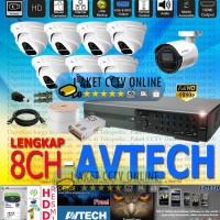Paket CCTV Avtech 8 Channel Lengkap Dipandu dan Resmi