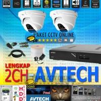Paket CCTV Siap Pasang FULL HD Avtech 1080p Lengkap Murah Infarared