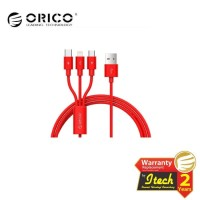 ORICO UTS-12 3 in 1 3A Nylon Braided Charge & Sync Cable 1.2 Meter -