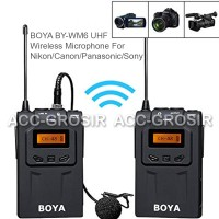 BOYA BY-WM6 UHF Wireless Microphone For Nikon/Canon/Panasonic/Sony