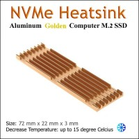 Aluminum Passive Cooling Heatsink M.2 NGFF SSD NVMe SATA Cooler Rubber